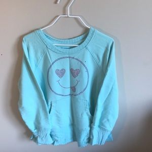 Other - Toddler girls mint green smiley sweatshirt